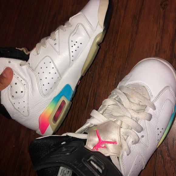 Jordan Shoes | Jordan Rainbow 6s | Poshmark